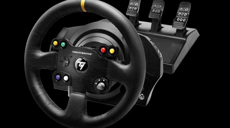 volant xbox one pc thrustmaster tx racing wheel leather edition gaming family. Black Bedroom Furniture Sets. Home Design Ideas