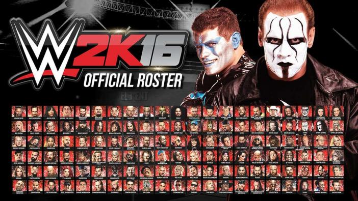 Roster WWE 2K16